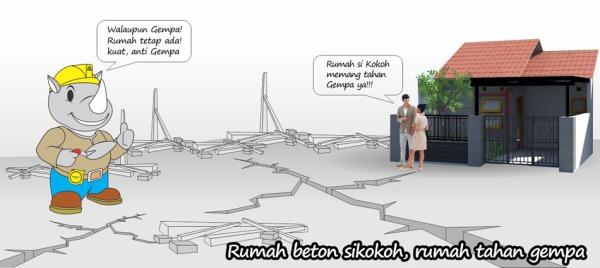 rumah rakyat sikokoh tahan gempa
