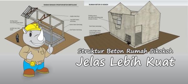 Struktur beton rumah sikokoh